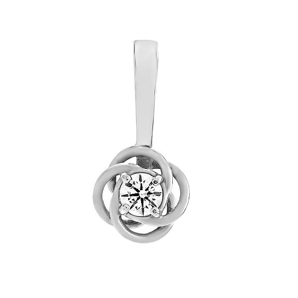 Підвіска срібна з фіанітом (930097б)