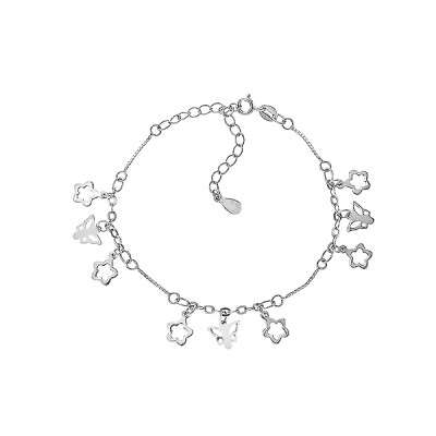 Браслет срібний фантазія без каменів (Б2/404)
