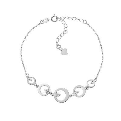 Браслет срібний фантазія з фіанітами (Б2Ф/417)