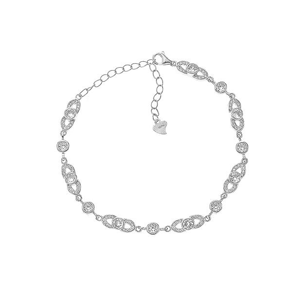 Браслет срібний фантазія з фіанітами (Б2Ф/476)