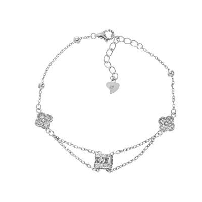 Браслет срібний фантазія з фіанітами (Б2Ф/710)