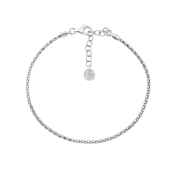 Браслет срібний фантазія без каменів (D038BK3031 R)