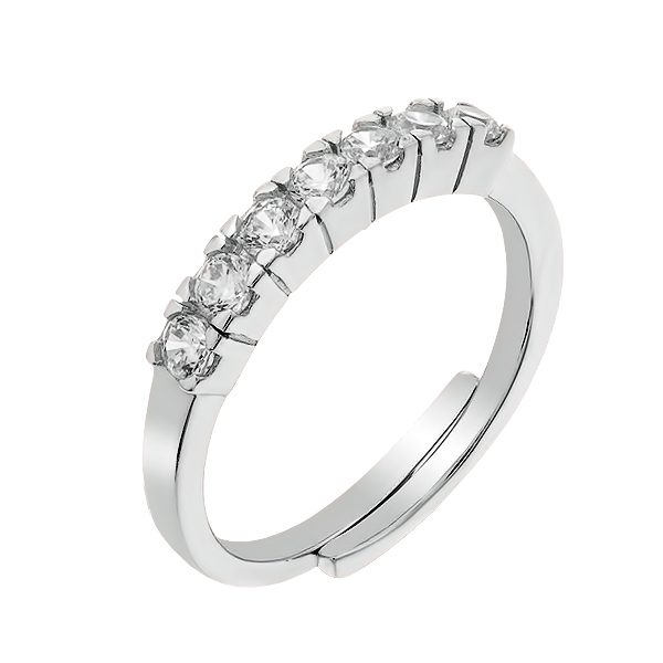 Каблучка срібна доріжка з фіанітами (D110CA0063 R14)