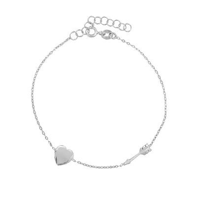 Браслет срібний Серце без каменів (D2179BK0961 R)