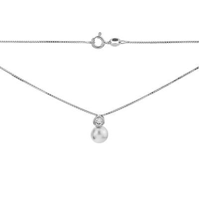 Кольє срібне з намистиною (D3000HK0681 R12)