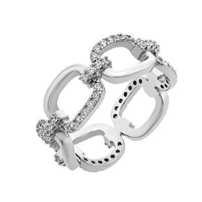 Каблучка срібна фантазія з розсипом (D4015A0915 R14)