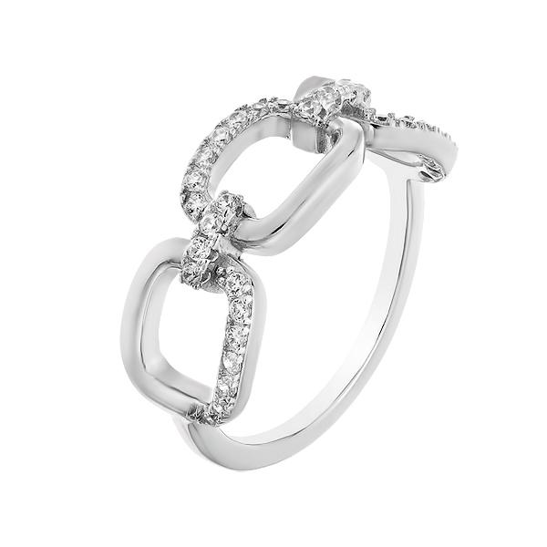 Каблучка срібна фантазія з розсипом (D4015A0916 R14)