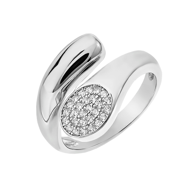 Каблучка срібна фантазія з розсипом (D4019A0267 R14)