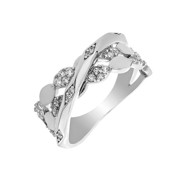 Каблучка срібна фантазія з розсипом (D4019A0318 R14)