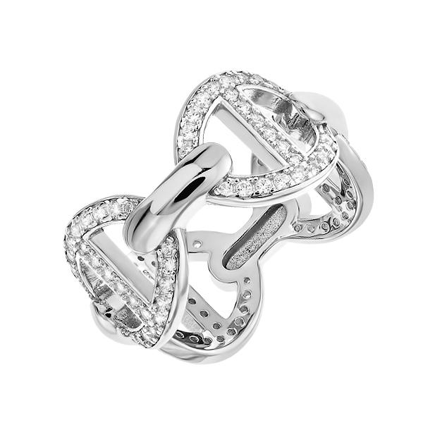 Каблучка срібна фантазія з розсипом (D4019A0330 R14)