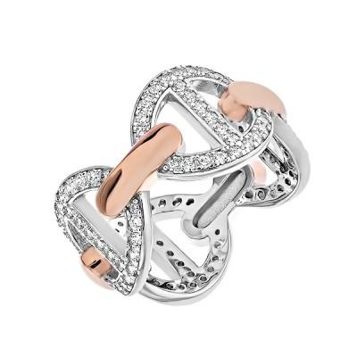 Кольцо серебряное фантазия с россыпью (D4019A0330 RE14)