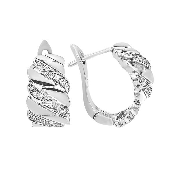 Сережки срібні фантазія з розсипом (D4019OR0374 R14)