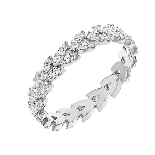 Каблучка срібна фантазія з розсипом (D4077A0152 R14)