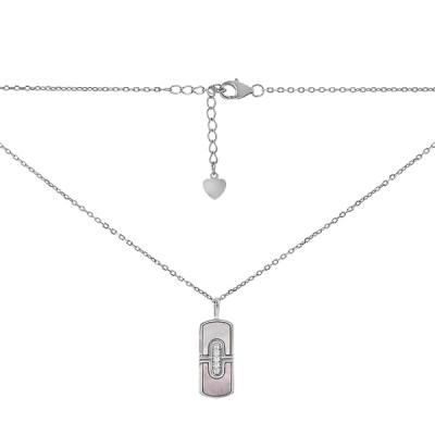 Кольє срібне Фантазія з перламутром (D4078HK0140 R57)