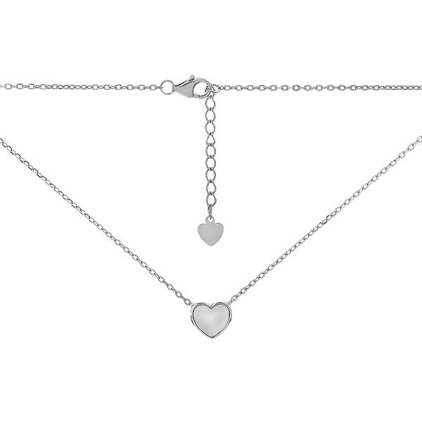 Кольє срібне Серце з преламутром (D4078HK0142 R57)
