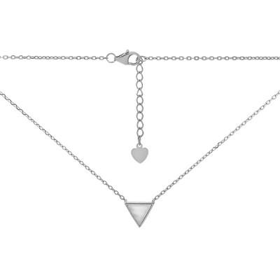 Кольє срібне Трикутник з перламутром (D4078HK0145 R57)