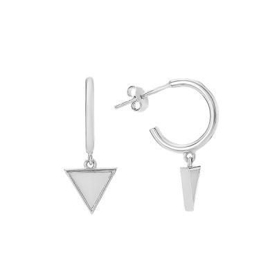 Сережки-пусети (гвоздики) срібні з перламутром (D4078OR0173 R57)