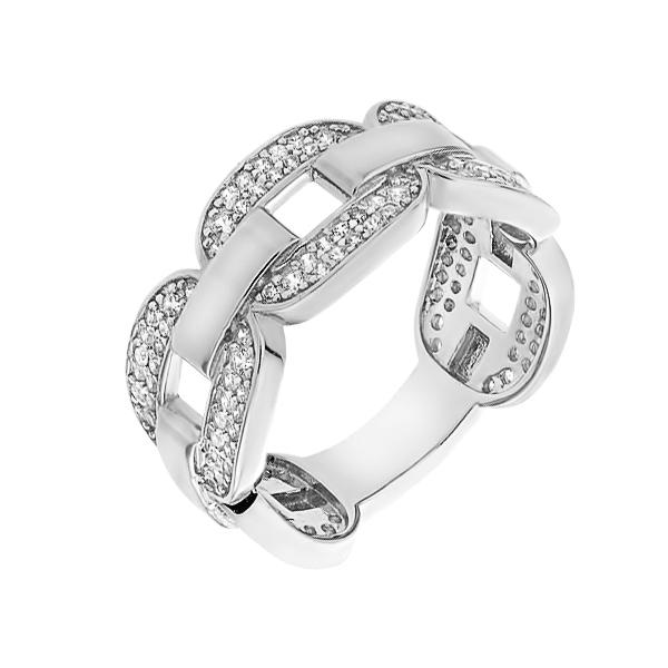 Каблучка срібна фантазія з розсипом (D4138A0121 R14)