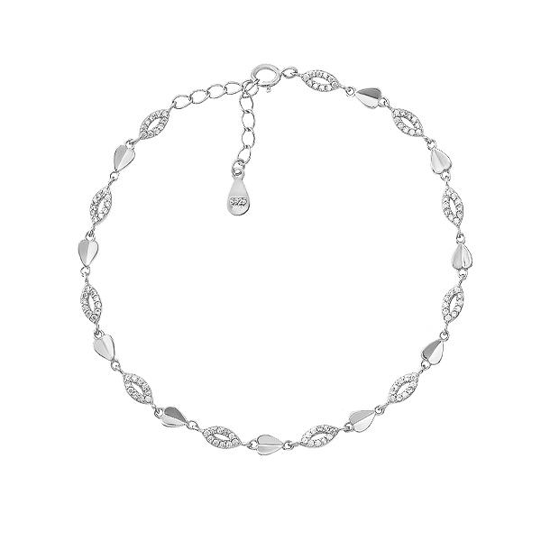 Браслет срібний фантазія з фіанітами (D4141BK0020 R14)