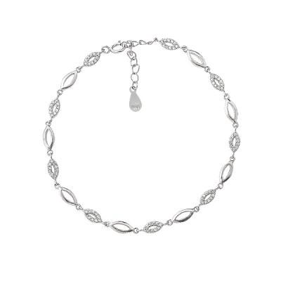Браслет срібний фантазія з фіанітами (D4141BK0021 R14)