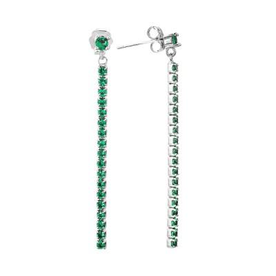 Сережки-пусети (гвоздики) срібні з фіанітами (D4141OR0026 R41)