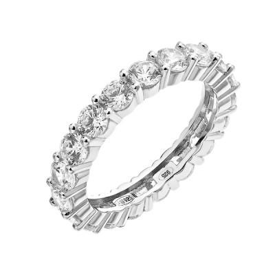 Каблучка срібна фантазія з розсипом (D4145A0045 R14)