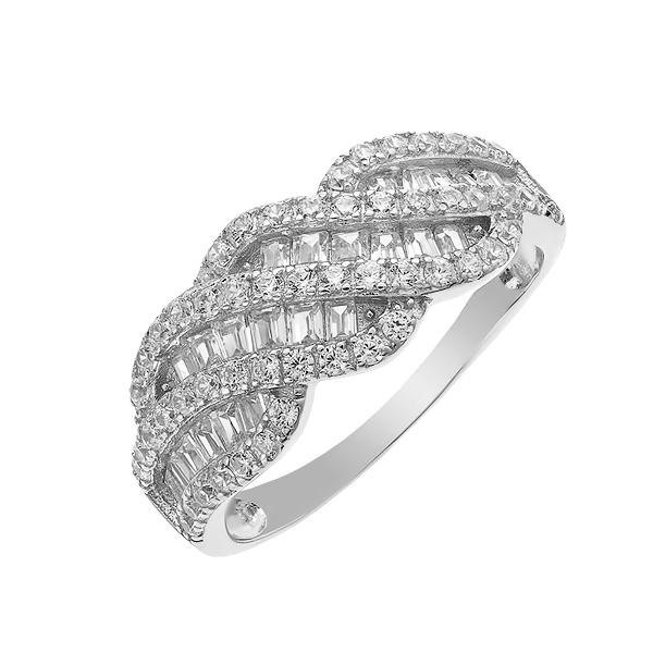 Каблучка срібна фантазія з розсипом (D4145A0049 R14)