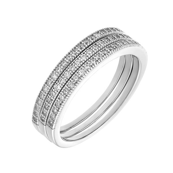 Каблучка срібна доріжка з фіанітами (D4145A0053 R14)