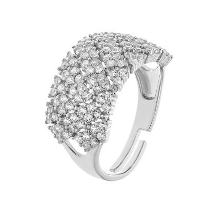 Каблучка срібна фантазія з розсипом (D4145A0071 R14)