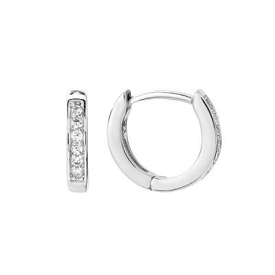 Сережки-кільця (конго) срібні доріжка з фіанітами (D4145OR0390 R14)