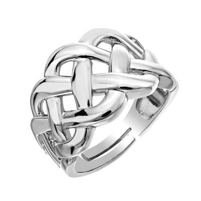 Каблучка срібна фантазія без каменів   (D4158A0001 R)
