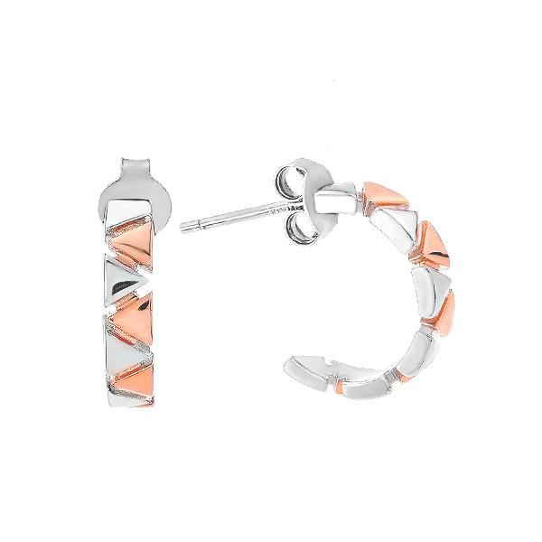 Сережки-пусети (гвоздики) срібні фантазія без каменів (D4158OR0041 RE)