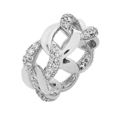 Каблучка срібна фантазія з розсипом (D4159A0004 R14)