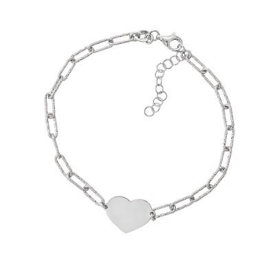 Браслет срібний Серце без каменів (D5005BK0920 R)