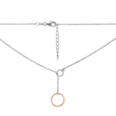 Кольє срібне Кільце без каменів (D5005HK0971 RE)