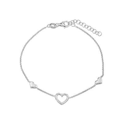 Браслет срібний Серце без каменів (D5008BK5462 R)