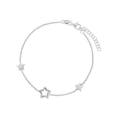 Браслет срібний Зірка без каменів (D5008BK5463 R)