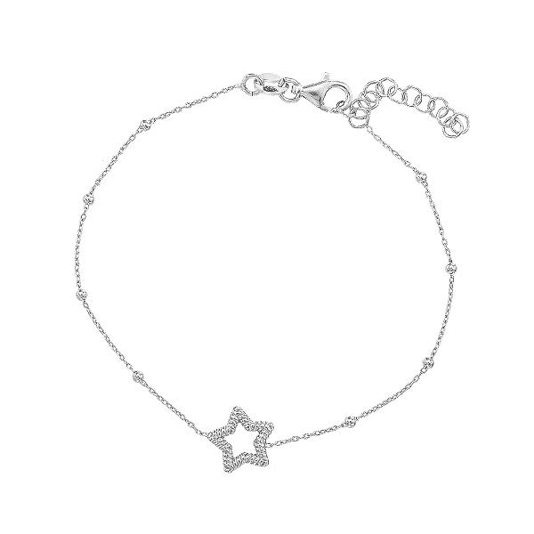 Браслет срібний Зірка без каменів (D5008BK5499 R)
