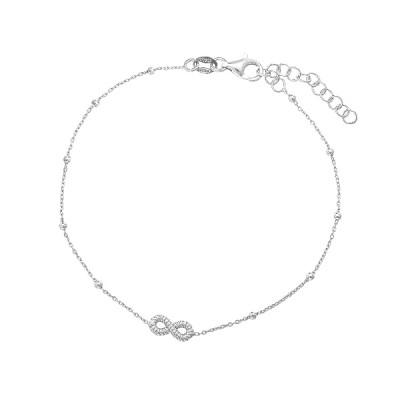 Браслет срібний Безмежність без каменів (D5008BK5501 R)