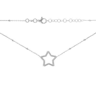 Кольє срібне Зірка без каменів (D5008HK2481 R)