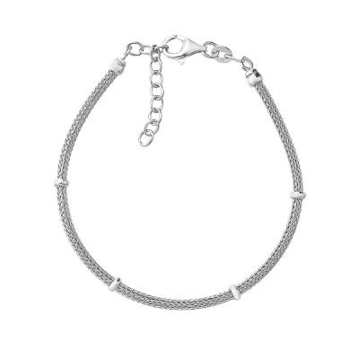 Браслет срібний фантазія без каменів (D5013BK1601 R)