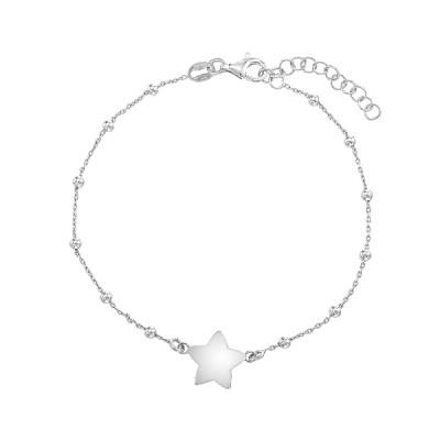 Браслет срібний Зірка без каменів (D5024BK7006 R)