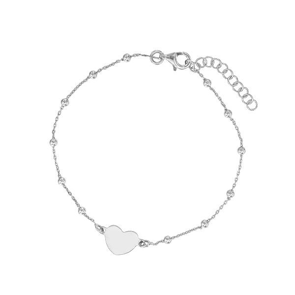 Браслет срібний Серце без каменів (D5024BK7007 R)