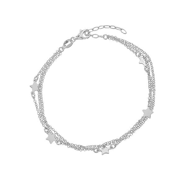 Браслет срібний Зірки без каменів (D5024BK7472 R)