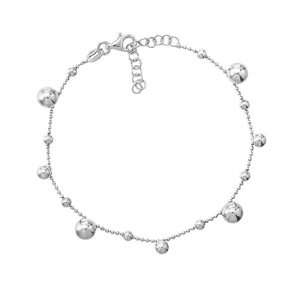 Браслет срібний фантазія без каменів (D5024BK7499 R)
