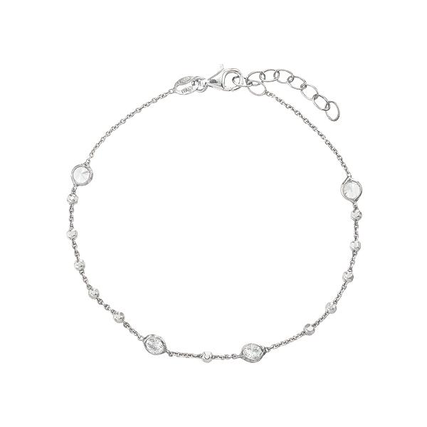 Браслет срібний фантазія з фіанітами (D5026BK1208 R14)