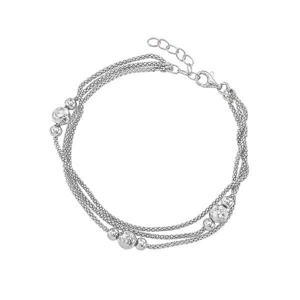Браслет срібний фантазія без каменів (D5026BK2062 R)