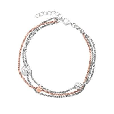 Браслет срібний фантазія без каменів (D5026BK2063 RE)