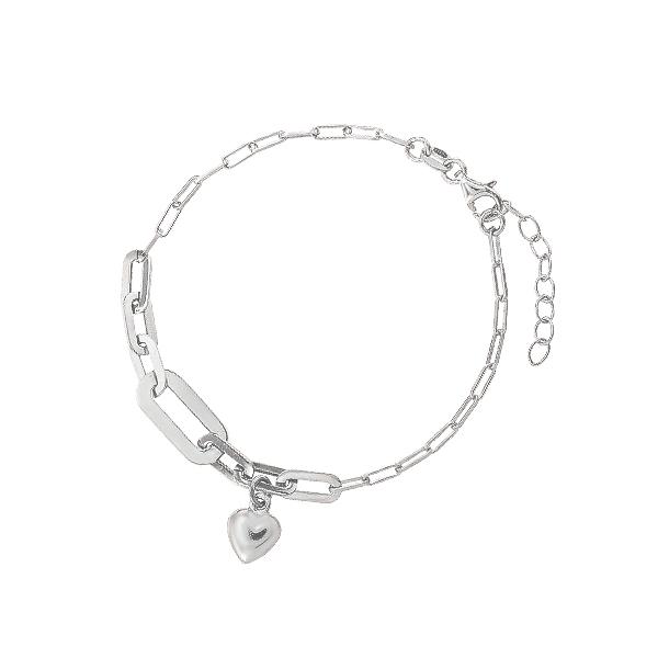 Браслет срібний Серце без каменів (D5026BK2083 R)