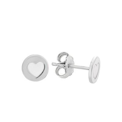 Серьги-пусеты (гвоздики) серебряные фантазия с эмалью (D5026OR1122 R12)